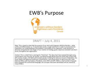 EWB�s Purpose