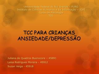 TCC PARA CRIANÇAS ANSIEDADE/DEPRESSÃO