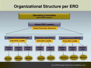 Organizational Structure per ERO