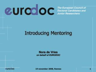 Introducing Mentoring