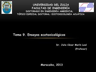 Dr. Julio César  Marín  Leal ( Profesor )