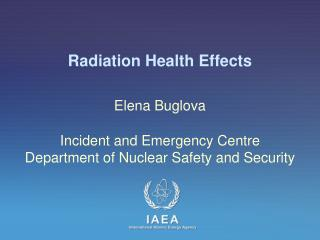 Radiation Health Effects