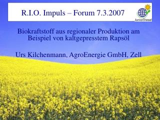 R.I.O. Impuls – Forum 7.3.2007