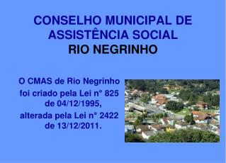 CONSELHO MUNICIPAL DE ASSISTÊNCIA SOCIAL  RIO NEGRINHO