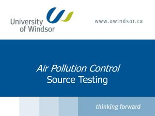 Air Pollution Control Source Testing