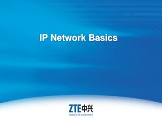 IP Network Basics