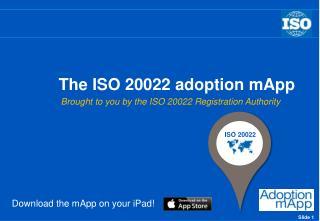 The ISO 20022 adoption  mApp