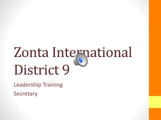 Zonta International District 9