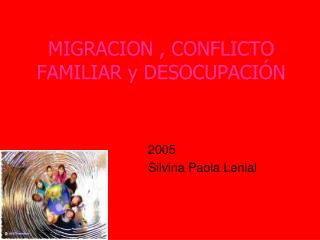 MIGRACION , CONFLICTO FAMILIAR y DESOCUPACIÓN