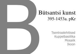 Bütsantsi kunst 395-1453a. pKr