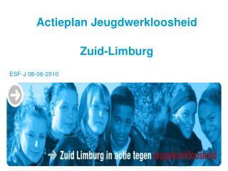 Actieplan Jeugdwerkloosheid  Zuid-Limburg
