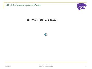 CIS 764 Database Systems Design