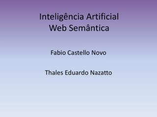 Inteligência Artificial Web Semântica