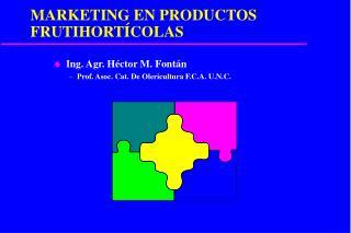 MARKETING EN PRODUCTOS FRUTIHORT�COLAS
