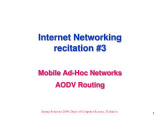 Internet Networking recitation #3