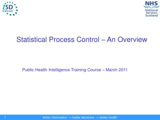 Statistical Process Control – An Overview
