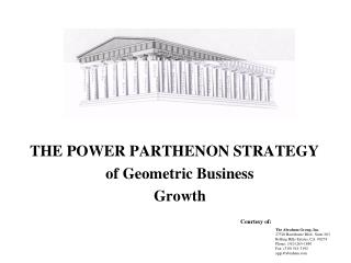 THE POWER PARTHENON STRATEGY of Geometric Business Growth
