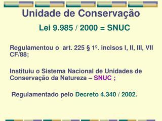 Unidade de Conservação