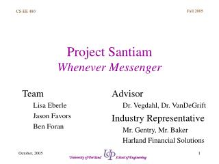 Project Santiam Whenever Messenger