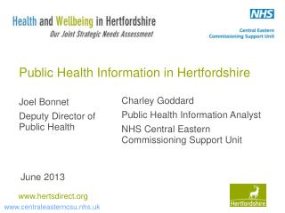 Public Health Information in Hertfordshire