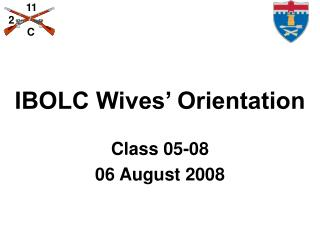 IBOLC Wives' Orientation