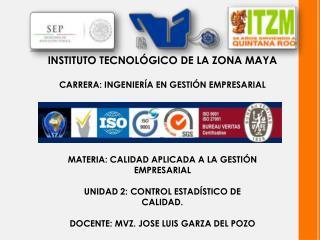 INSTITUTO TECNOLÓGICO DE LA ZONA MAYA CARRERA: INGENIERÍA EN GESTIÓN EMPRESARIAL