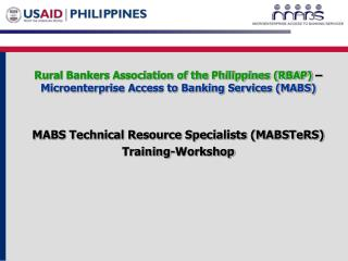 Rural Bankers Association of the Philippines (RBAP)  �