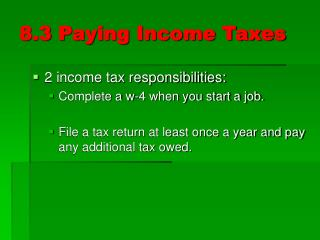 8.3 Paying Income Taxes