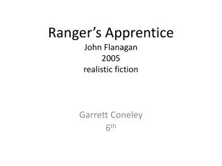 Ranger's Apprentice John Flanagan 2005 realistic fiction