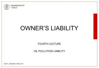 OWNER S LIABILITY