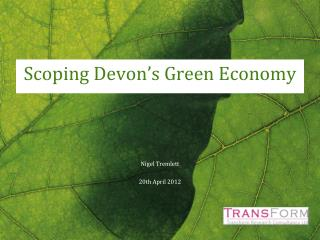 Scoping Devon's Green Economy