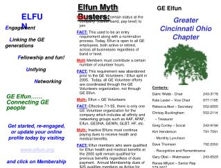 GE Elfun Greater Cincinnati Ohio Chapter