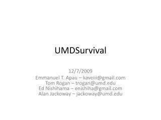 UMDSurvival