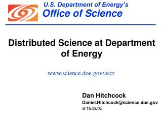 U.S. Department of Energy s                                 Office of Science