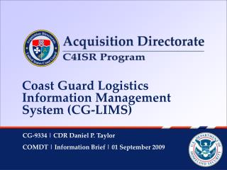 Coast Guard Logistics Information Management System (CG-LIMS)