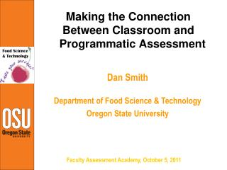 Making the Connection Between Classroom and Programmatic Assessment