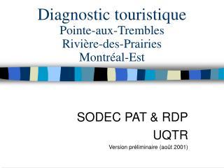 Diagnostic touristique Pointe-aux-Trembles Rivière-des-Prairies Montréal-Est