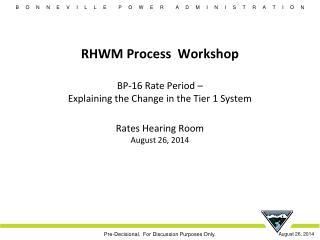 RHWM Process Workshop Agenda