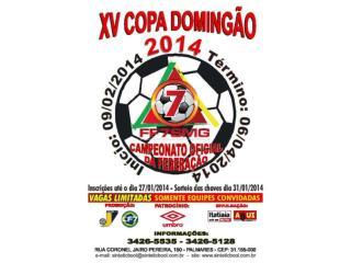 XV COPA DOMINGÃO 2014  PROMOÇÃO: