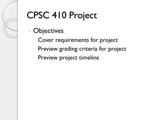 CPSC 410 Project
