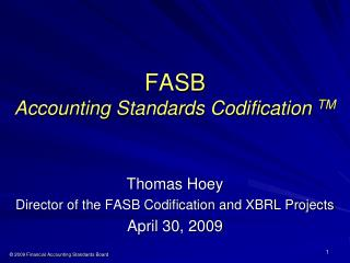 FASB  Accounting Standards Codification TM