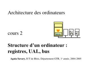 Architecture  des ordinateurs cours  2 Structure d'un ordinateur : registres, UAL, bus