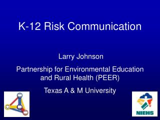 K-12 Risk Communication