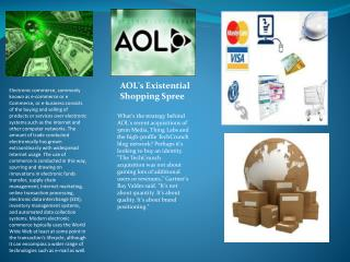 AOL's Existential Shopping Spree