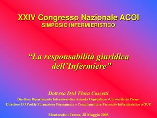 XXIV Congresso Nazionale ACOI SIMPOSIO INFERMIERISTICO