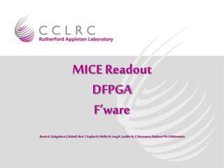 MICE Data Flow