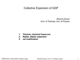 Collective Expansion of QGP