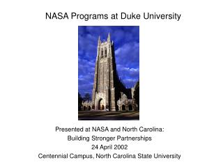 NASA Programs at Duke University
