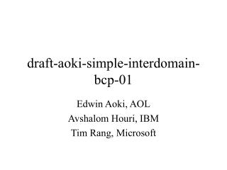 draft-aoki-simple-interdomain-bcp-01