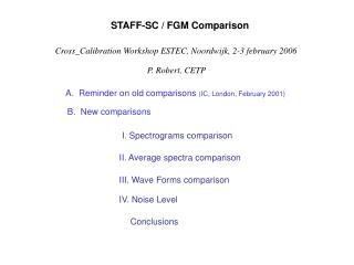 STAFF-SC  / FGM  Comparison